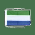Drapeau avec cordelettes Sierra Leone - 20 x 30 cm
