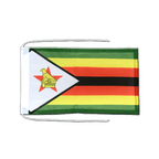 Drapeau avec cordelettes Zimbabwe - 20 x 30 cm