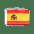 Drapeau avec cordelettes Espagne - 20 x 30 cm