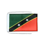 """Saint Kitts and Nevis - Flag with ropes 8x12"""""""
