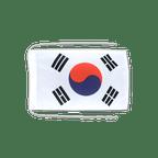 Drapeau avec cordelettes Corée du Sud - 20 x 30 cm