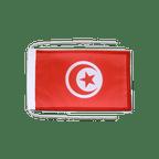 Drapeau avec cordelettes Tunisie - 20 x 30 cm
