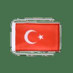Drapeau avec cordelettes Turquie - 20 x 30 cm