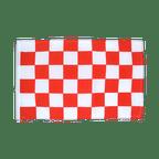 Kariert Rot-Weiß - Flagge 30 x 45 cm