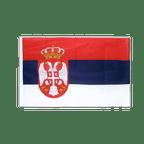 Serbien mit Wappen - Hohlsaum Flagge PRO 60 x 90 cm