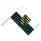 Saxony - Hand Waving Flag PRO 2x3 ft