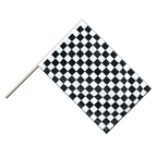 Checkered - Hand Waving Flag PRO 2x3 ft