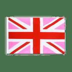 Union Jack pink - Sleeved Flag ECO 2x3 ft