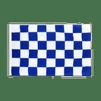 Checkered blue-white - Sleeved Flag ECO 2x3 ft