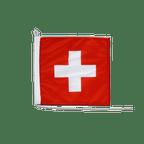Drapeau pour bateau Suisse - 30 x 30 cm