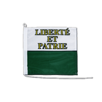 Drapeau pour bateau Vaud - 30 x 30 cm