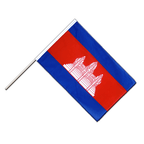 Drapeau Cambodge Hampe ECO - 60 x 90 cm