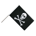 Pirat Skull and Bones - Stockflagge ECO 60 x 90 cm