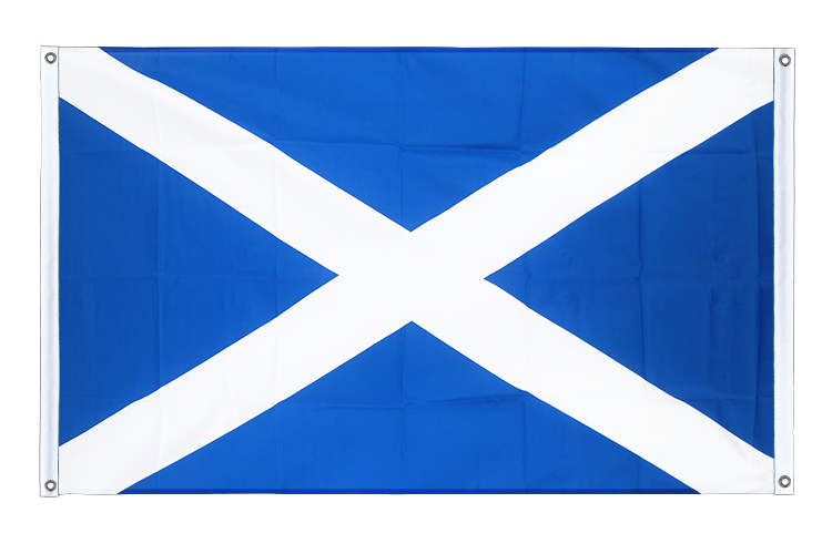 Banner Flag Scotland - 3x5 ft (90x150 cm), landscape