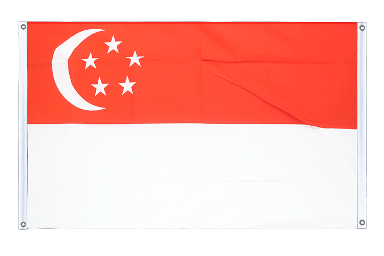 Banner Flag Singapore - 3x5 ft (90x150 cm), landscape