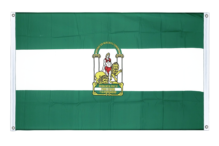 Banner Flag Andalusia - 3x5 ft (90x150 cm), landscape