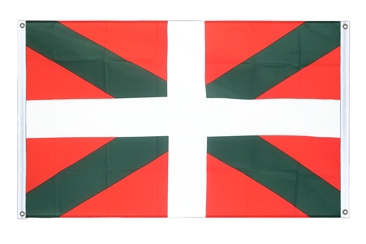 Banner Flag Basque country - 3x5 ft (90x150 cm), landscape