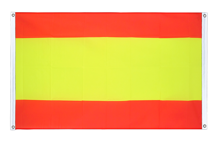 Banner Flag Spain without crest - 3x5 ft (90x150 cm), landscape