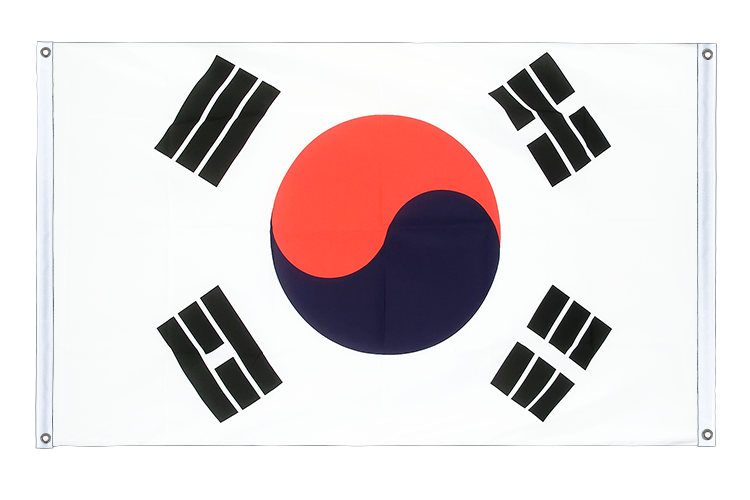 Banner Flag South Korea - 3x5 ft (90x150 cm), landscape