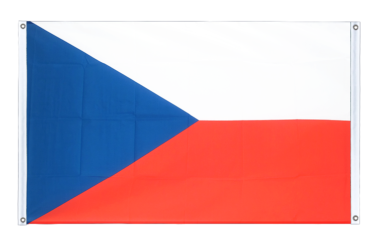 Banner Flag Czech Republic - 3x5 ft (90x150 cm), landscape