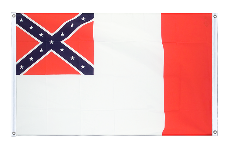 Banner Flag USA 3rd Confederate - 3x5 ft (90x150 cm), landscape