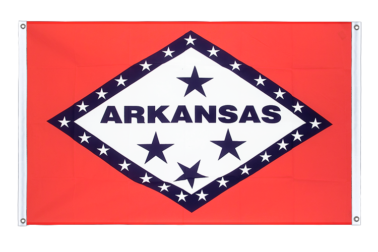 Banner Flag Arkansas - 3x5 ft (90x150 cm), landscape