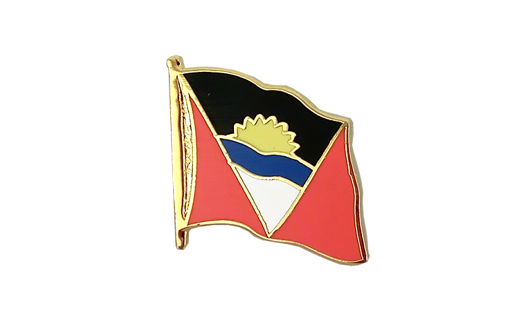 Pin's drapeau Antigua et Barbuda | antiguais et barbudiens 2x2 cm