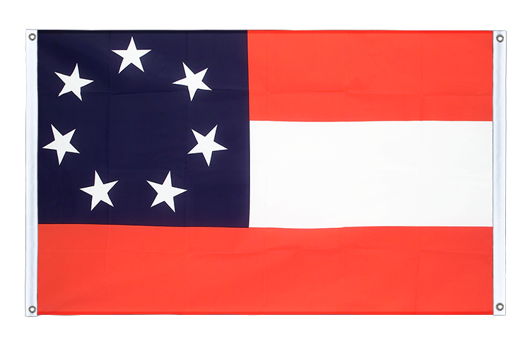 Banner Flag USA Southern United States Stars and Bars 1861 - 3x5 ft (90x150 cm), landscape