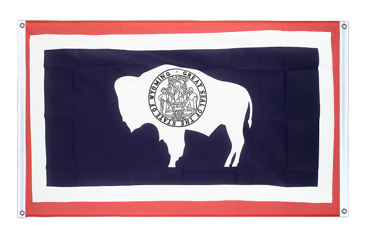 Banner Flag Wyoming - 3x5 ft (90x150 cm), landscape