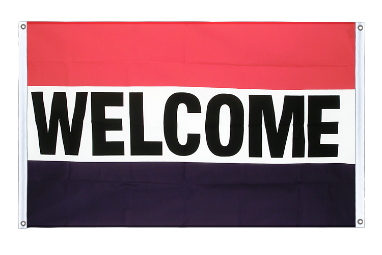 Banner Flag Welcome - 3x5 ft (90x150 cm), landscape