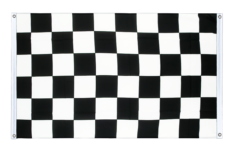 Checkered Grommet Banner Flag - 3x5 ft (90x150 cm), landscape