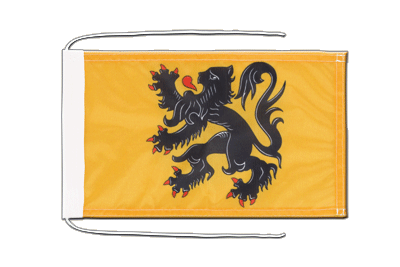 Flag with ropes Belgium Flanders - 8x12""