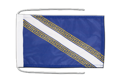 Flag with ropes Champagne-Ardenne - 8x12""