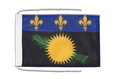 Flag with ropes Guadeloupe - 8x12""