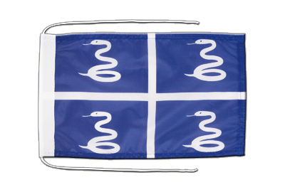 Flag with ropes Martinique - 8x12""