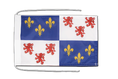 Flag with ropes Picardie - 8x12""
