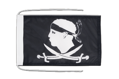 Flag with ropes Pirate Corsica - 8x12""