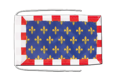 Flag with ropes Touraine - 8x12""