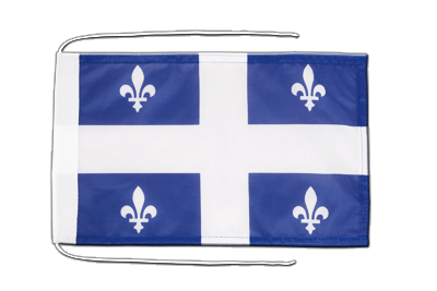 Flag with ropes Quebec - 8x12""