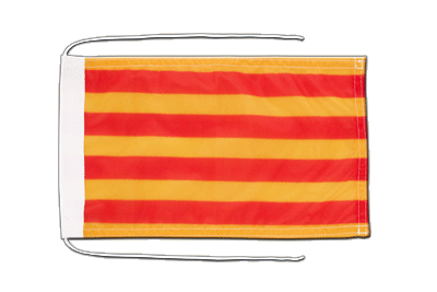 Flag with ropes Catalonia - 8x12""