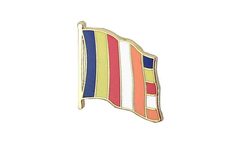 Flag Lapel Pin Buddhist
