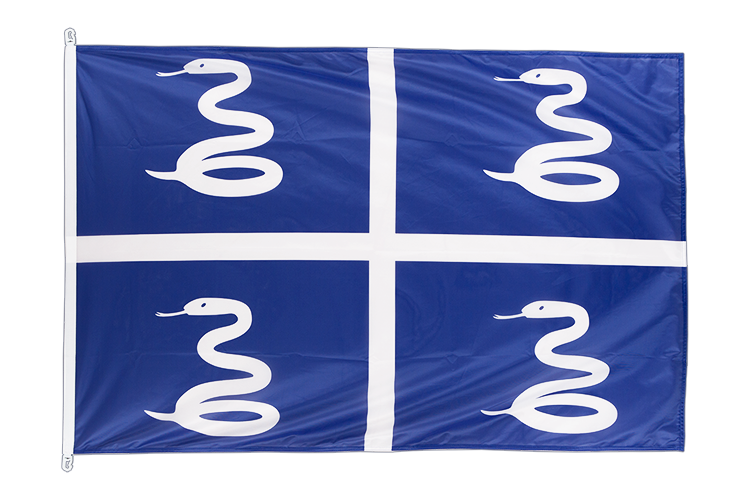Drapeau Martinique. Pavillon martiniquais 100x150 cm.