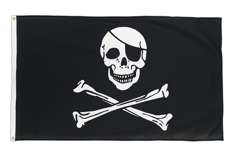 Drapeau qualité Pirate, 105 g/m2 - 90 x 150 cm CV