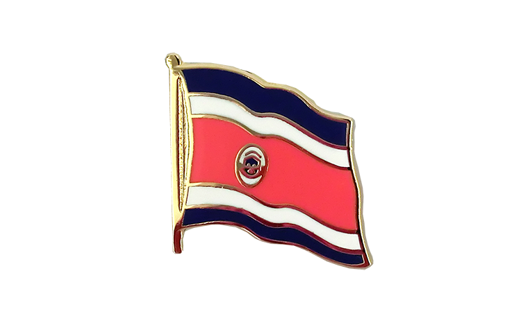 Costa Rica - Flaggen Pin 2 x 2 cm
