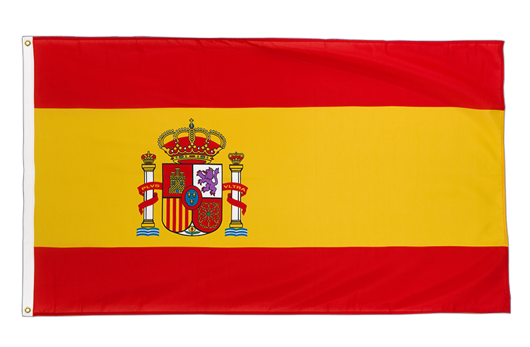 Premium Flag Spain with crest - 3x5 ft CV