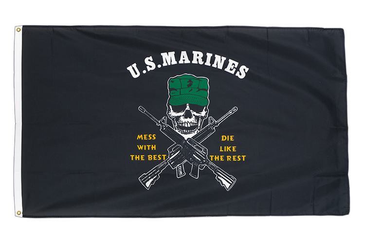 Premium Flag US Marine Corps Mess with the Best - 3x5 ft CV
