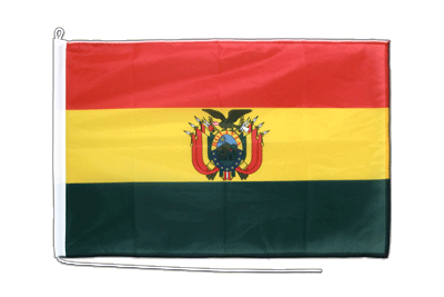 Mittlere Bootsflagge/Bootsfahne Bolivien - 60 x 90 cm
