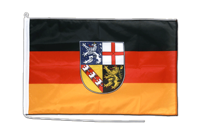 Mittlere Bootsflagge/Bootsfahne Saarland - 60 x 90 cm