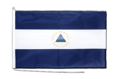 Mittlere Bootsflagge/Bootsfahne Nicaragua - 60 x 90 cm