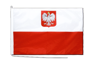 Boat Flag PRO Poland with eagle - 2x3 ft
